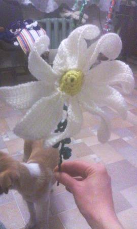 Цветы на ножке ручной работы на заказ