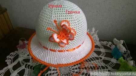 """Шляпка с брошью """"Бабочка"""" ручной работы на заказ"""