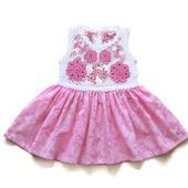 Платье из хлопка для новорожденной девочки Цветочки