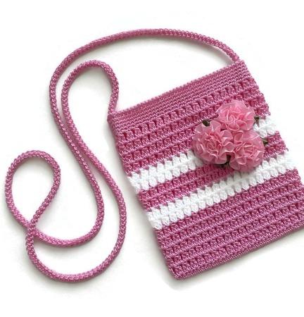 Сумочка для девочки вязаная из хлопка ручной работы на заказ