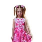 Платье из хлопка для девочки Розовые леденцы
