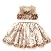 Платье из хлопка для девочки Белый шоколад, вариант 3