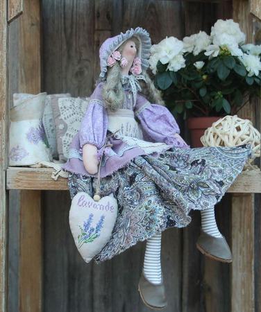 Лавандовая фея тильда (вариация) ручной работы на заказ