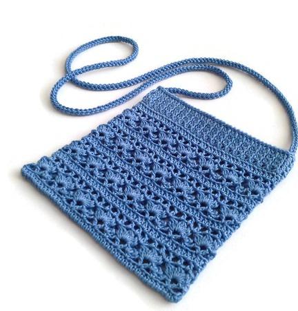 Сумочка ажурная для девочки вязаная из хлопка ручной работы на заказ