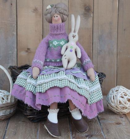 Тильда Маргарет с зайцем ручной работы на заказ
