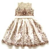 Платье из хлопка для девочки Белый шоколад