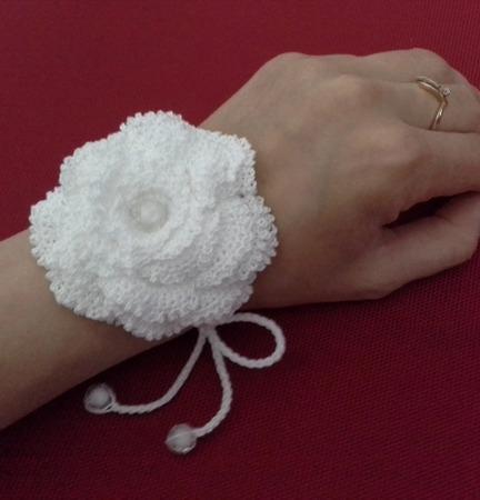 Браслет вязаный из хлопка в стиле Бохо Цветок ручной работы на заказ