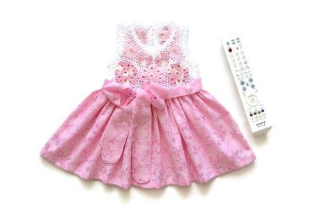 Комплект Платье и Панамка из хлопка для новорожденной девочки Цветочки ручной работы на заказ