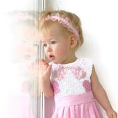 Платье из хлопка для девочки Бабочки - цветочки