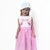 Платье из хлопка для девочки Бабочки