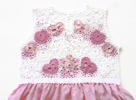 Платье из хлопка для девочки Бабочки - цветочки ручной работы на заказ