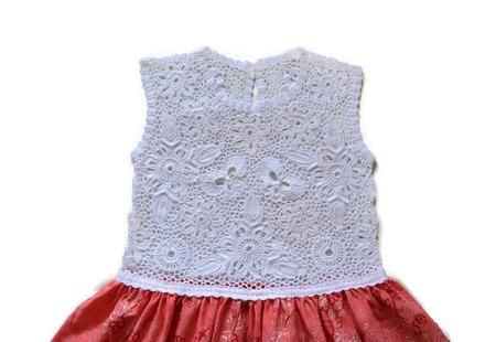 Платье из хлопка для девочки Оранжевое лето ручной работы на заказ