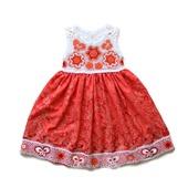 Платье из хлопка для девочки Оранжевое лето