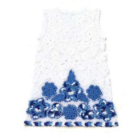"""Платье из хлопка для девочки """"В мечтах о море"""" ручной работы на заказ"""