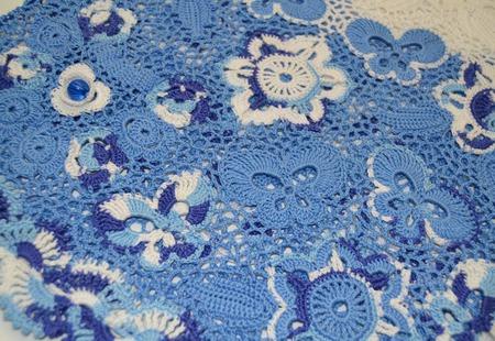 Платье из хлопка для девочки Гжель ручной работы на заказ