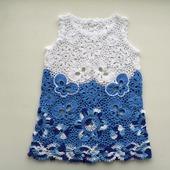 Платье из хлопка для новорожденной девочки Гжель
