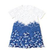 Платье из хлопка для девочки Гжель с рукавчиками