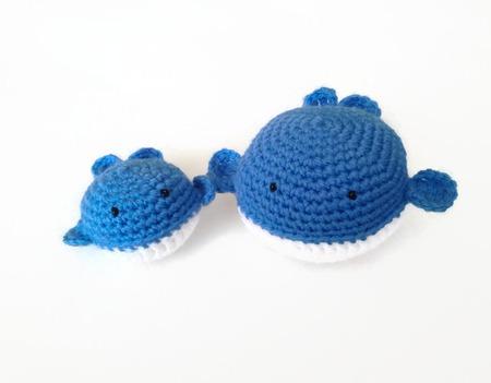 Вязаная игрушка Рыбка Дельфин ручной работы на заказ