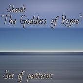 """""""Богини Рима"""" набор из трёх инструкций по вязанию шалей спицами"""