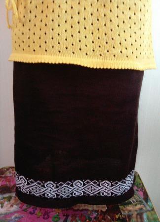 Вязаная юбка ручной работы на заказ