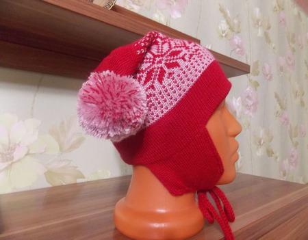 Вязаная шапка  и шарф ручной работы на заказ