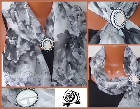 Брошь-зажим для шарфа ручной работы на заказ