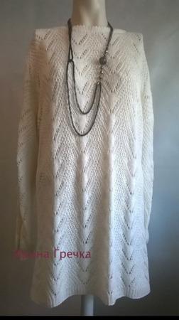 Пуловер с ажурным узором ручной работы на заказ