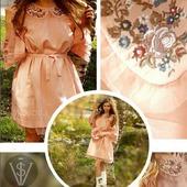 Платье легкое Нежность фатин вышивка