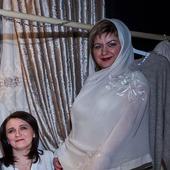 Палантин  с вышивкой Роза шифон шаль шарф