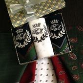 Носовые платочки Трио Корона жаккард Люкс. монограмма инициалы вензель