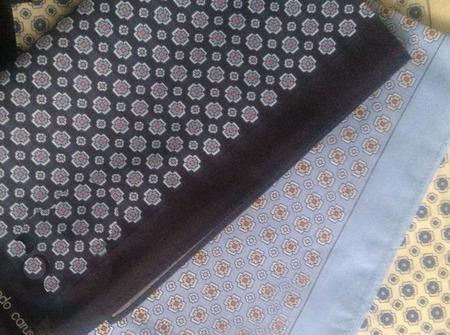 Носовой платок Мужской хлопок монограмма инициалы вензель ручной работы на заказ