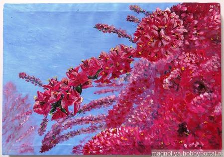 Цветущее дерево ручной работы на заказ