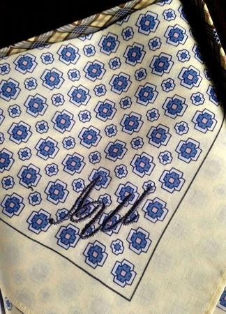 Носовой платок мужской ручной работы на заказ