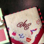 Носовой платочек Женские штучки с вышивкой инициалов монограмма