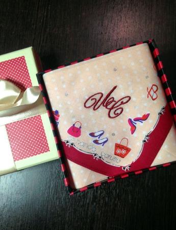Носовой платочек Женские штучки с вышивкой инициалов монограмма ручной работы на заказ