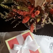 Носовой платок женский Серебро батист кружево хлопок монограмма