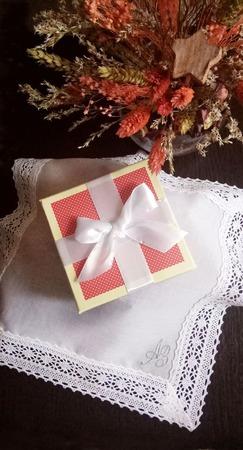 Носовой платок женский Серебро батист кружево хлопок монограмма ручной работы на заказ