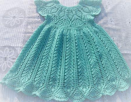 Платье цвета бирюзы ручной работы на заказ