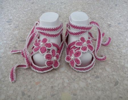 Пинетки-сандалики ручной работы на заказ