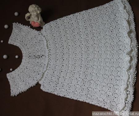 Кружевное платье для малышки ручной работы на заказ