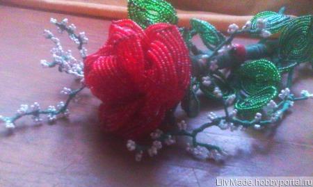 Неувядающая роза ручной работы на заказ