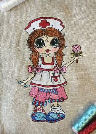 Вышивка Медсестричка ручной работы на заказ