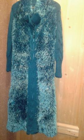 Пальто из травки ручной работы на заказ
