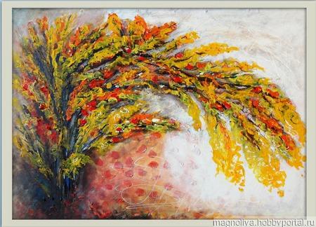 Цветочная ветка ручной работы на заказ