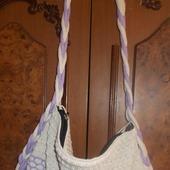 Мастер-класс по вязанию на машине летней сумки