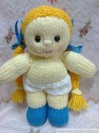 Вязаная куколка Кнопочка ручной работы на заказ