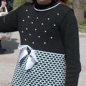 Мастер-класс по вязанию на машине нарядного платья