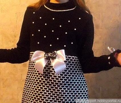 Мастер-класс по вязанию на машине нарядного платья ручной работы на заказ