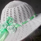 Мастер-класс по вязанию на машине ажурной шляпки
