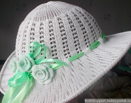 Мастер-класс по вязанию на машине ажурной шляпки ручной работы на заказ